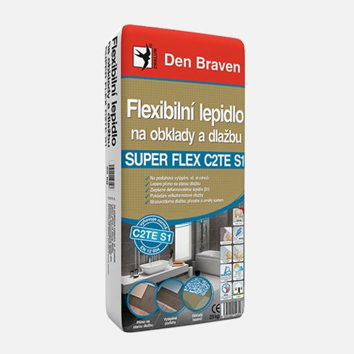 Flexibilní lepidlo na obklady a dlažbu SUPER FLEX C2TES1