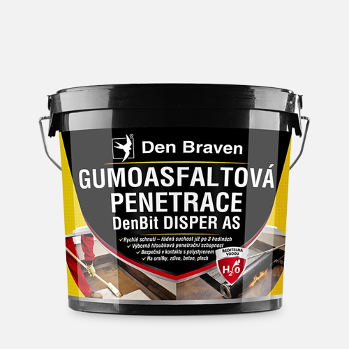 Gumoasfaltová penetrace - DenBit DISPER AS 5kg