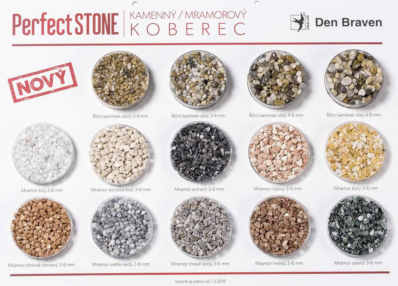 PERFECT STONE Mramorové kamínky